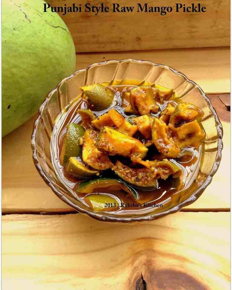 Punjabi Style Raw Mango Pickle