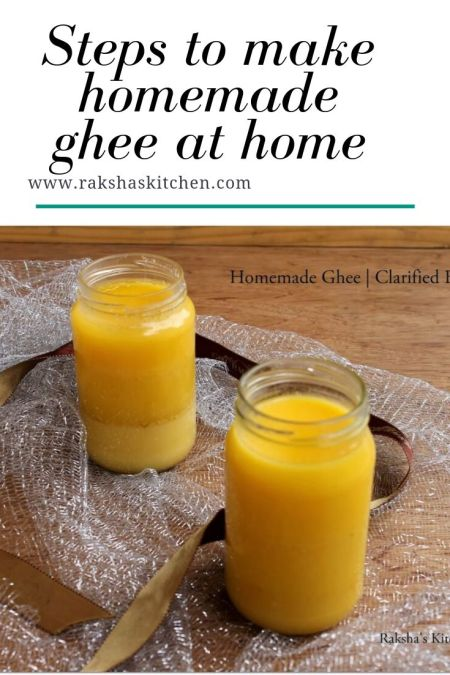 how to make homemade ghee at home from milk