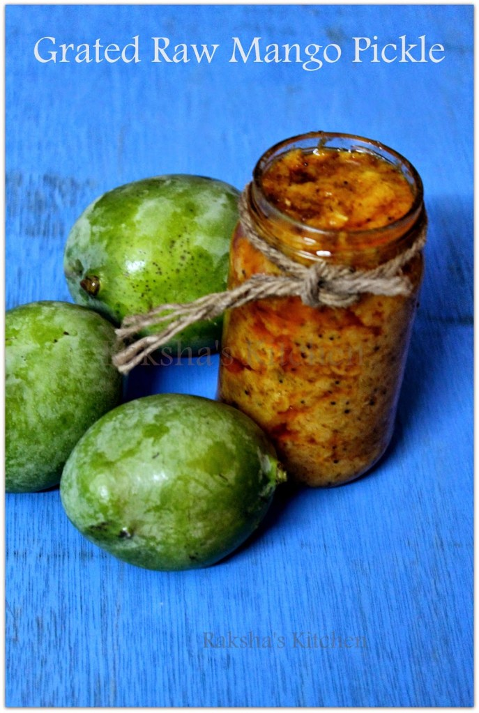 Grated raw mango pickle