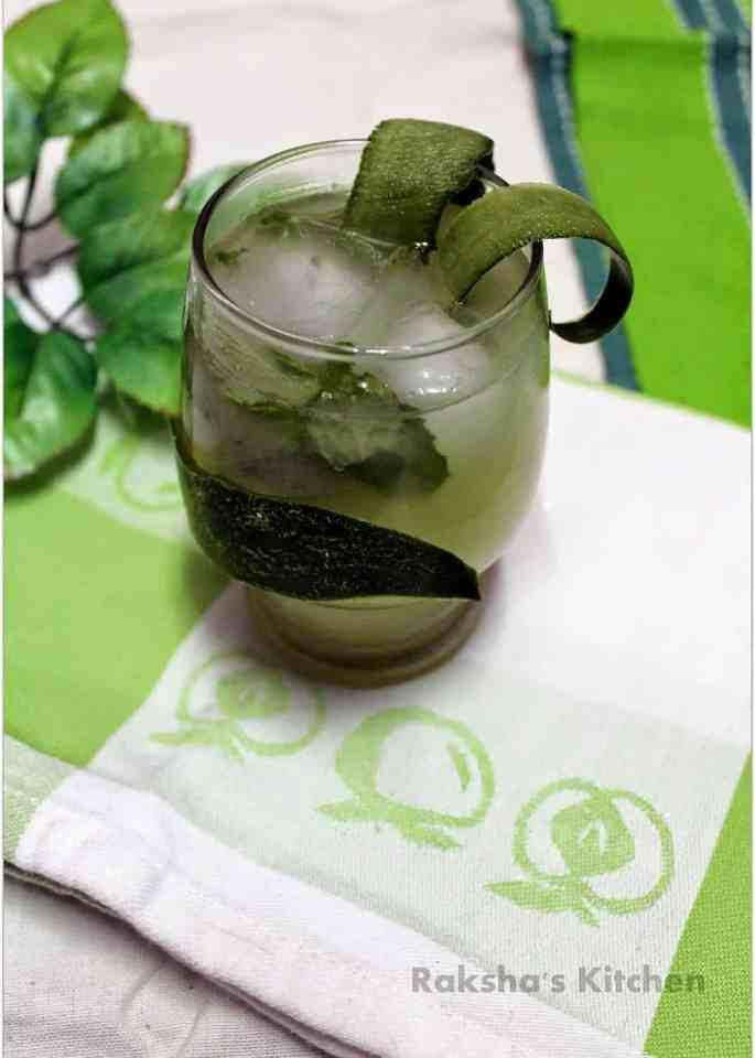 Coconut Cucumber Lemonade Mocktail