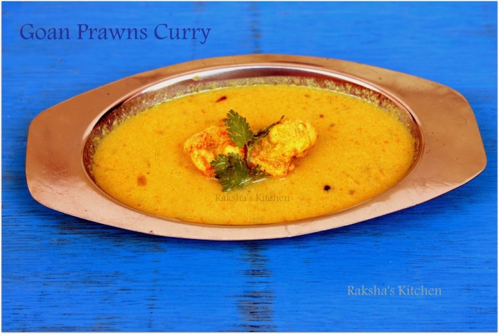 Prawns curry with raw mango