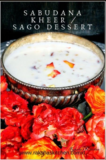 sabudana kheer with step by step images