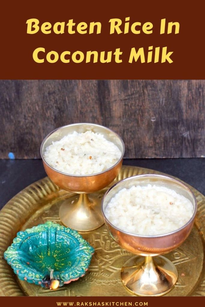 Beaten rice in coconut milk