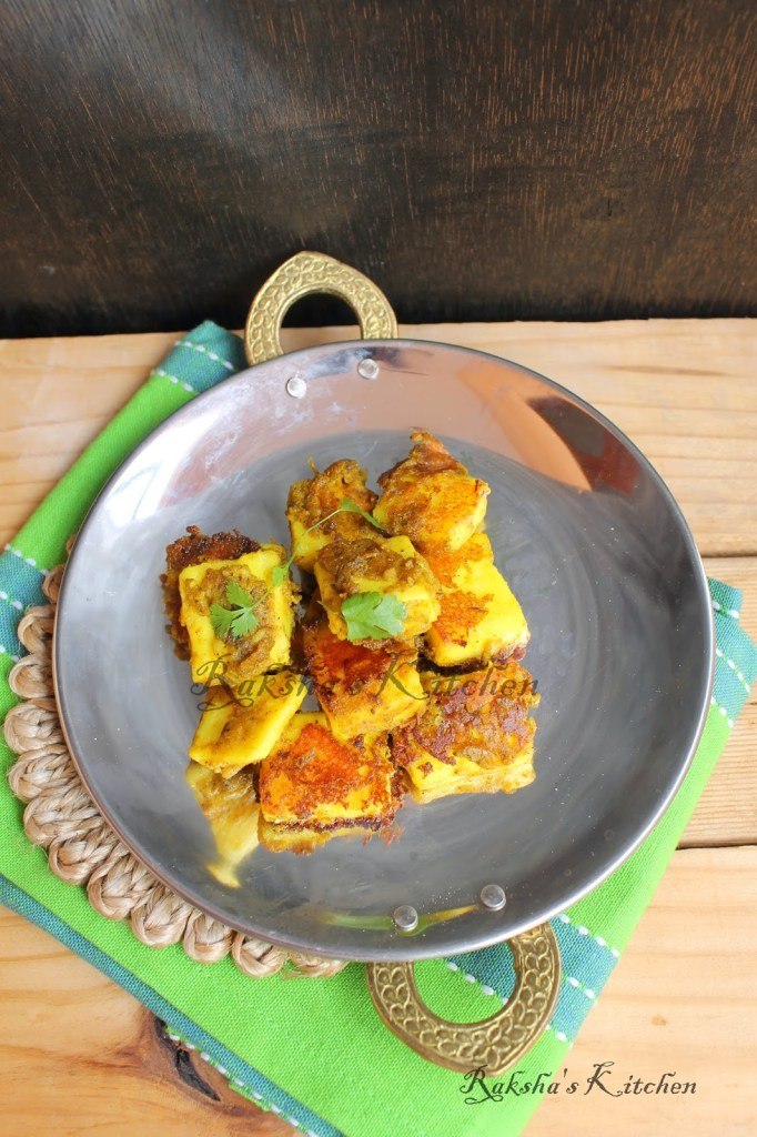 Tava Fried Paneer | Pan Fried Cottage Cheese