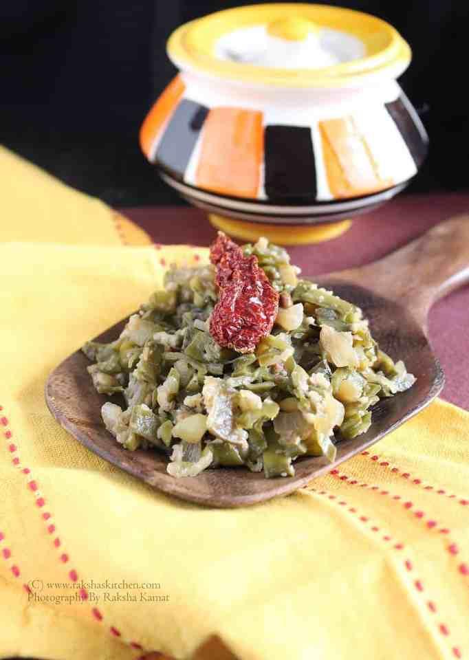 Aavryachi Bhaji | Broad Beans Stir Fry | Avarakkai Subzi