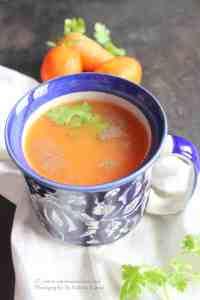 Carrot tomato soup