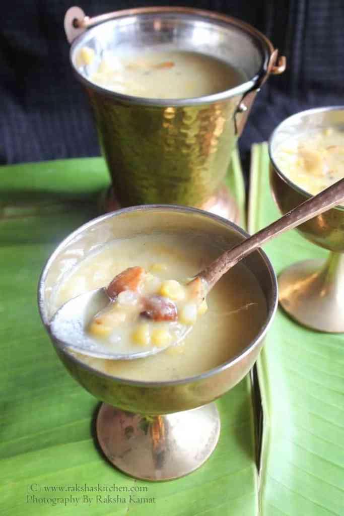 Goan chana dal payasam with sabudana
