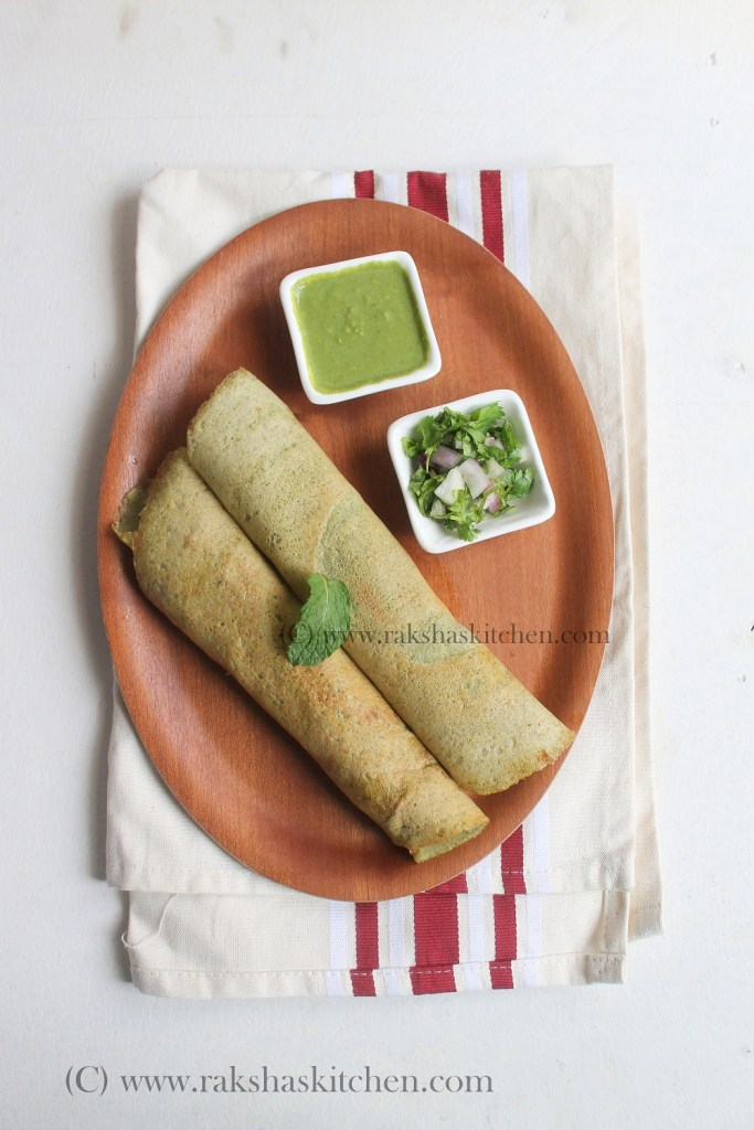 Moong Dosa | Green Gram Crepes