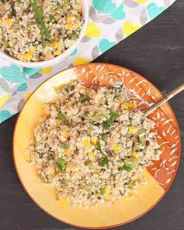 15 Minute cauliflower rice