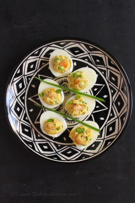 Deviled Eggs with Shrimps
