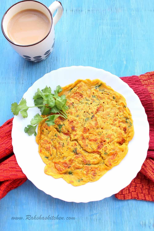 Vegan Eggless Omelette - Raksha's Kitchen