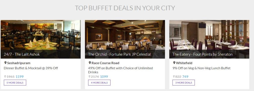 Find deals on Restaurants, Spas, Day outings & More In One Place