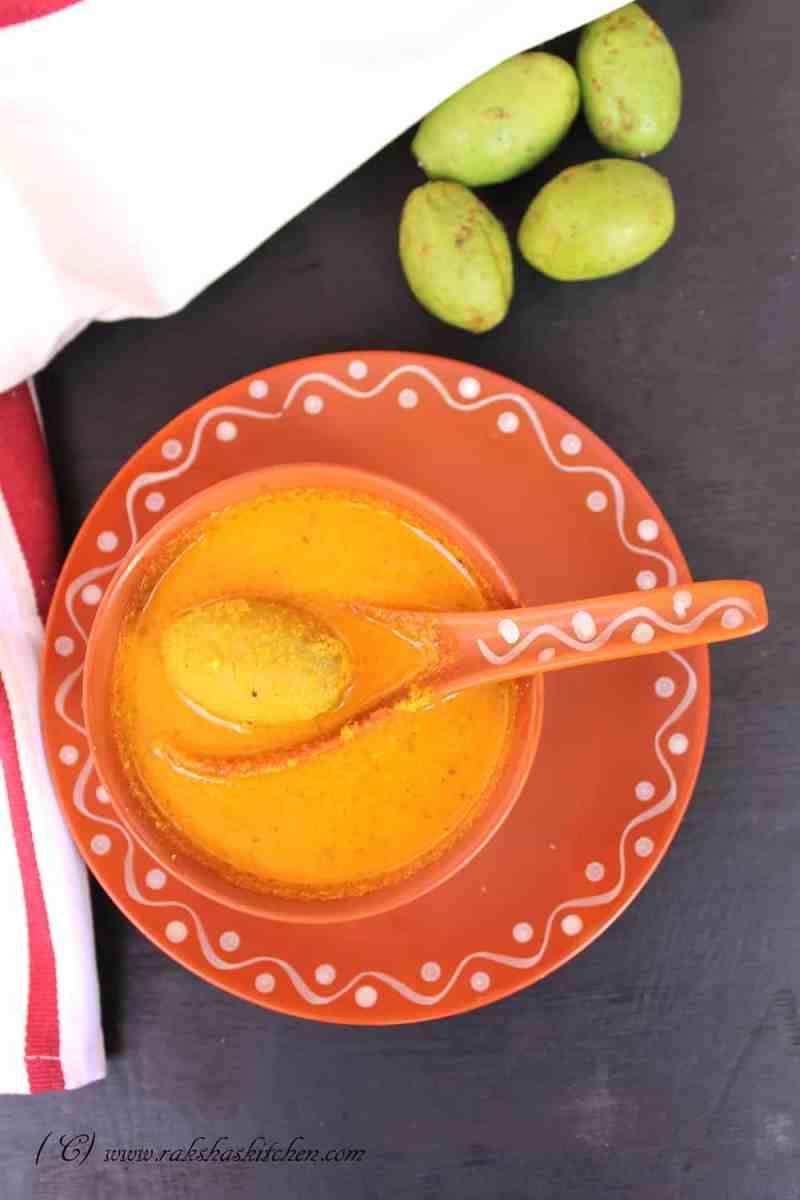 Ambadyachi Uddamethi /  Goan Hog Plum Curry