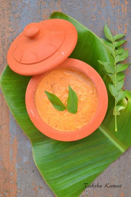 garlic red chilli coconut chutney