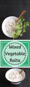 Mixed vegetable raita