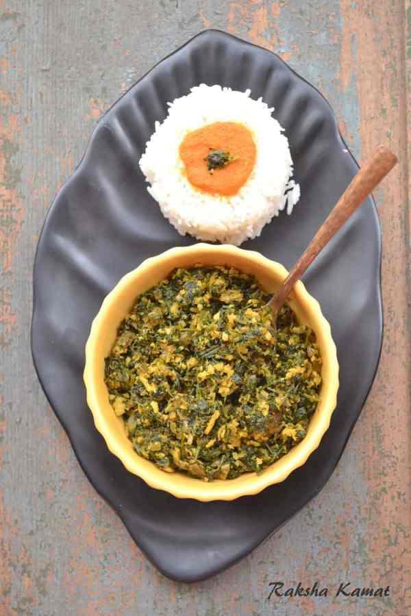 Methi Bhaji , Methi subzi, fenugreek leaves stir fry