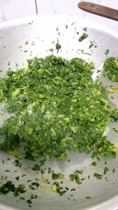Methi leaves step by step