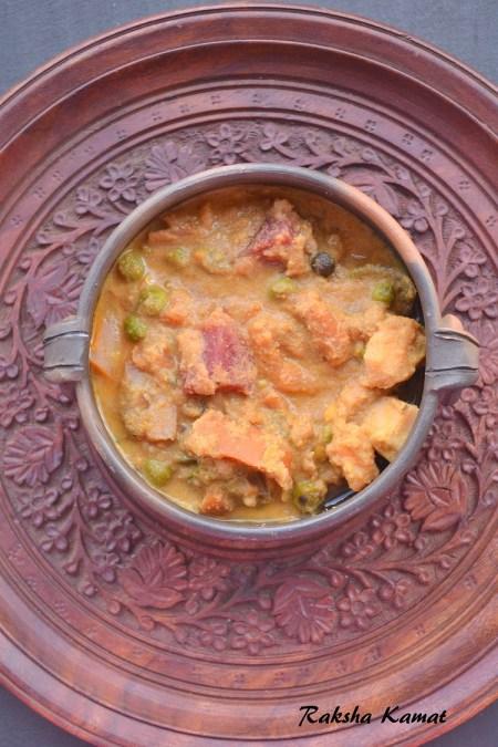 Khatkhate , Khatkhatem , Goan mixed vegetable stew, Mixed vegetable curry