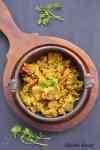 Madyechi Usli, Taro root stir fry, colocasia root stir fry, taro root gojju, taro root recipe