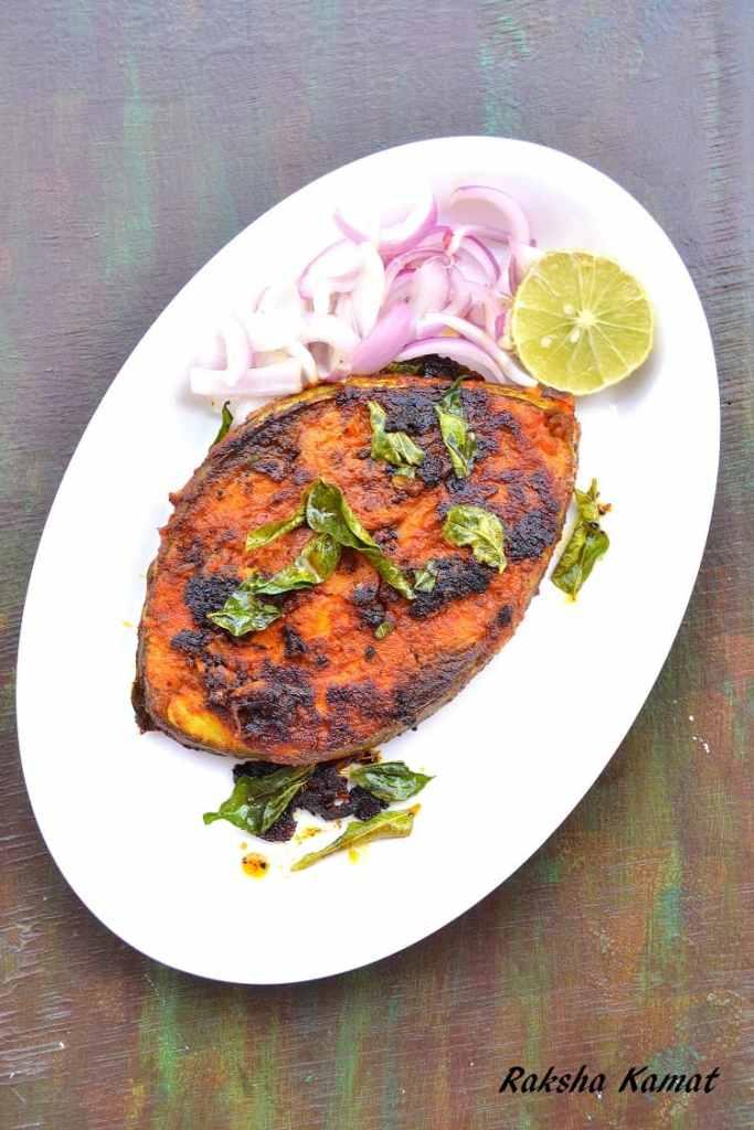 Masala fried fish, fish masala fry, tava fish fry, one pan fish