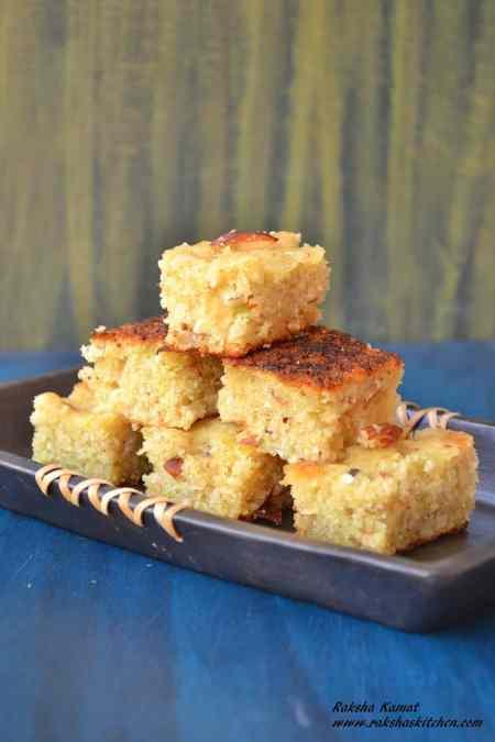 Goan cucumber cake, tavasali, cucumber cake, cucumber recipe, semolina cake, rava cake, dhonas