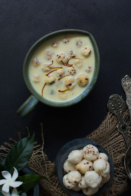 Makhana Kheer Low Calorie Recipe