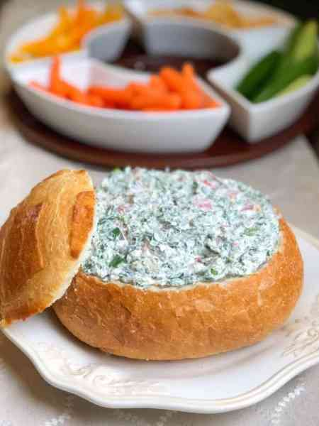 Easy-Cold-Spinach-Dip-With-Cream-Cheese