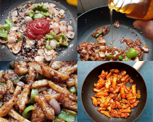 Mixing sauces for Chinese starter