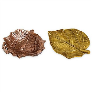 Fall Dishes - Metallic Leaf Plates from Bed Bath & Beyond with Cash Back at Rakuten.ca
