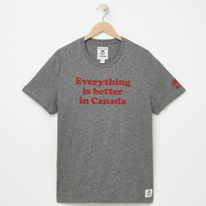 Everything is better in Canada! This Roots tee perfectly sums up how awesome Canada is and be sure to wear it this Canada 150