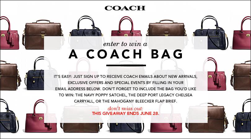 Enter to Win a Coach Handbag