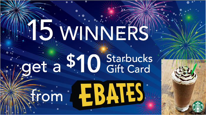 Celebrate Ebates 15th Birthday with a $150 Starbucks Gift Card Giveaway
