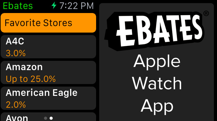 Ebates Apple Watch app