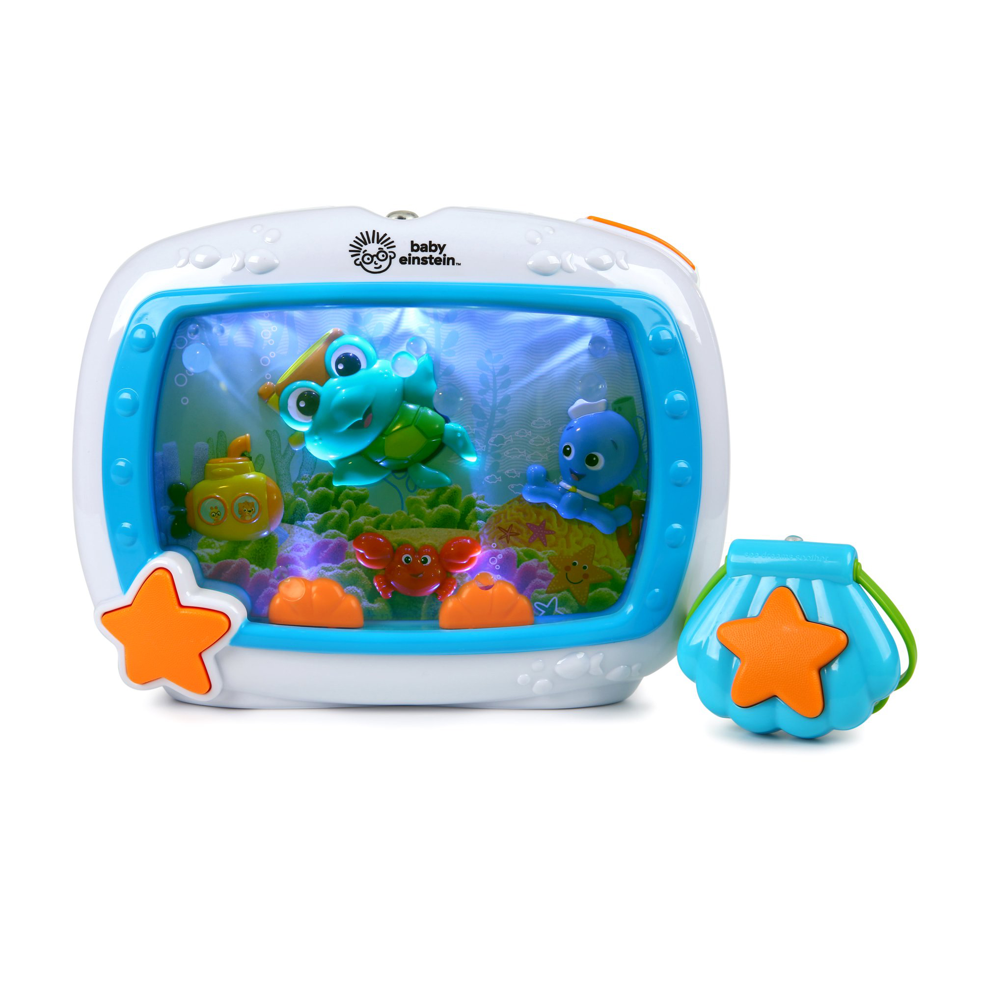Baby Einstein Sea Dreams Soother Crib Toy with Remote, Lights and Melodies