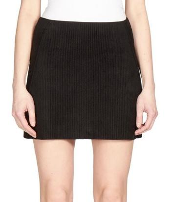 Velvet Mini Skirt