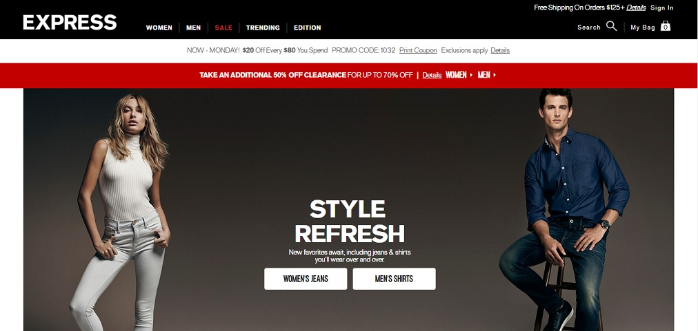 Express Homepage
