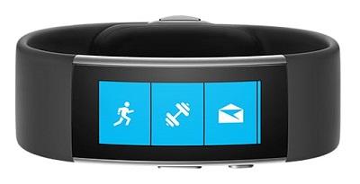 Black Microsoft Band 2 fitness tracker wearable