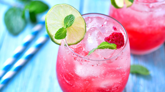 raspberry lime lemonade