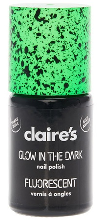 Fluorescent Green Glow in The Dark Speckled Nail Polish