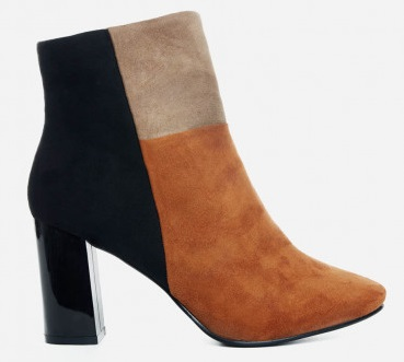 Shirleen Color-Block Ankle Booties