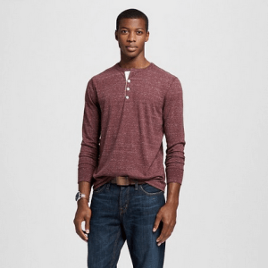 Men's Solid Long Sleeve Henley - Merona™