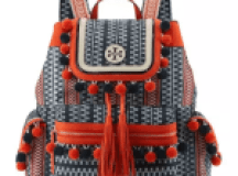 Tory Burch Scout Pompom Woven Backpack