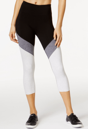 High-Rise Cropped Colorblocked Leggings