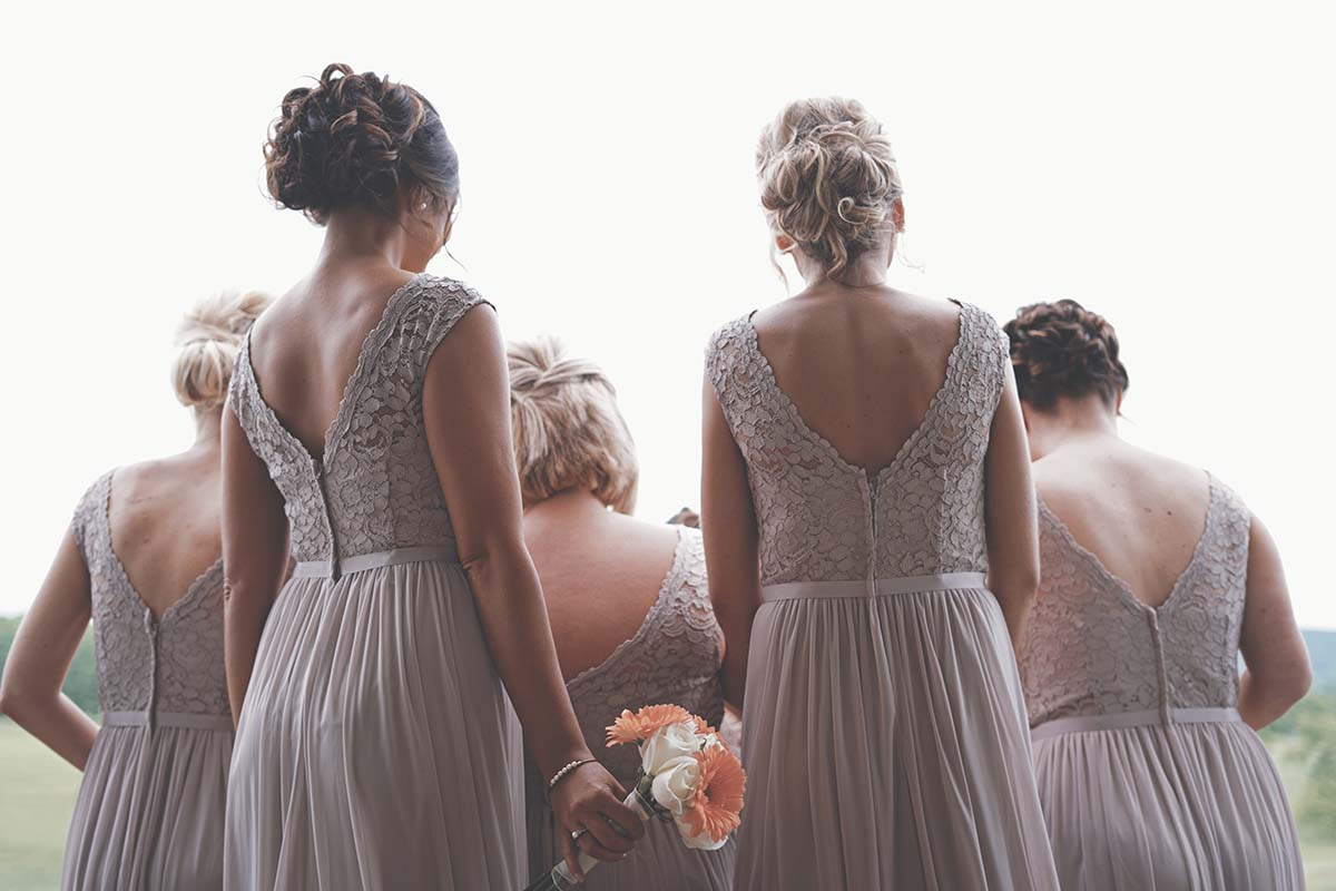 Photo from back of bridesmaids