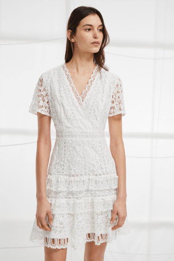 French Connection Arta Lace Ruffle Dress