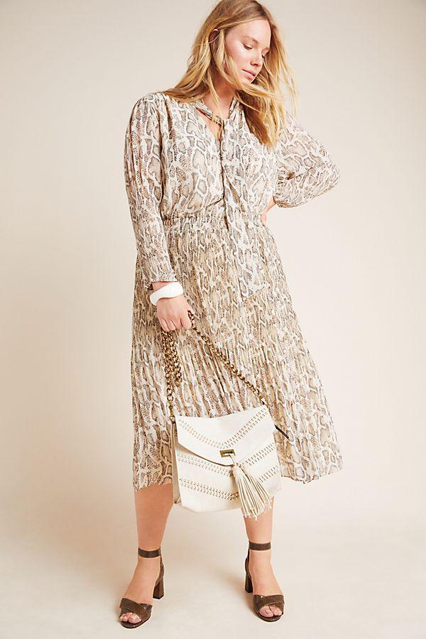 Olivia Snake-Printed Midi Dress