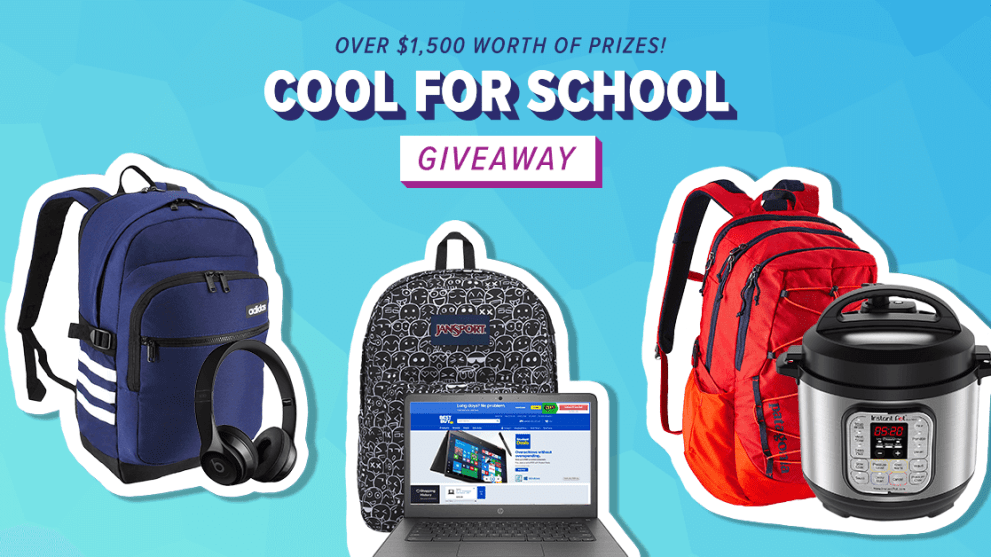 """Facebook Live """"Cool for School"""" Giveaway"""