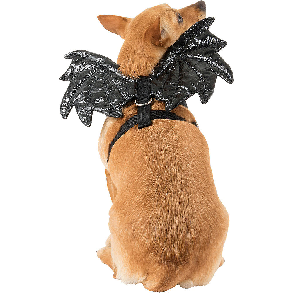 Black Sparkle Bat Wings Dog Harness