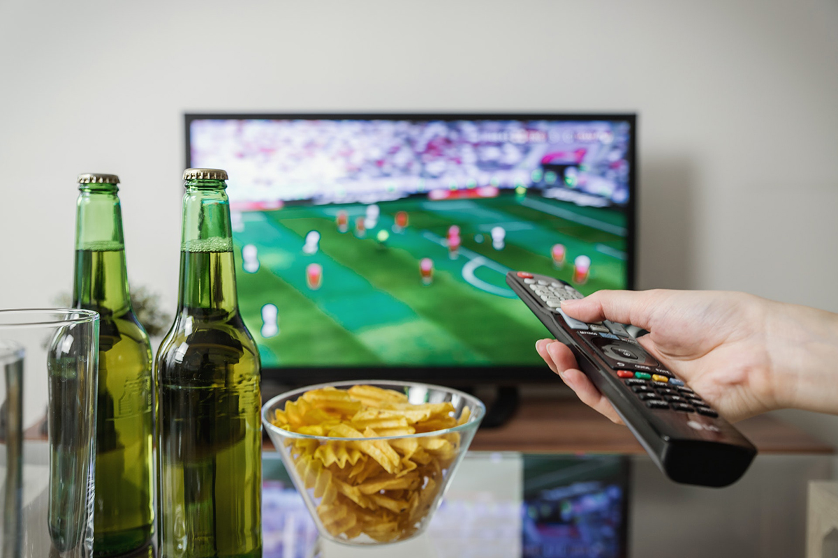 Watching sports on TV