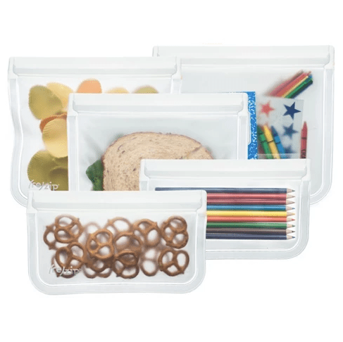 (re)zip Leak-proof Clear Reusable Storage Bag Kit